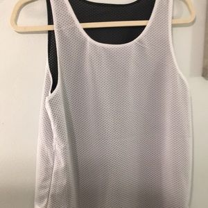 Other - Black/White reversible tank top Sm